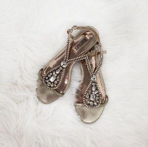 Badgley Mischka Wedding bridal Beach Sandals Flats